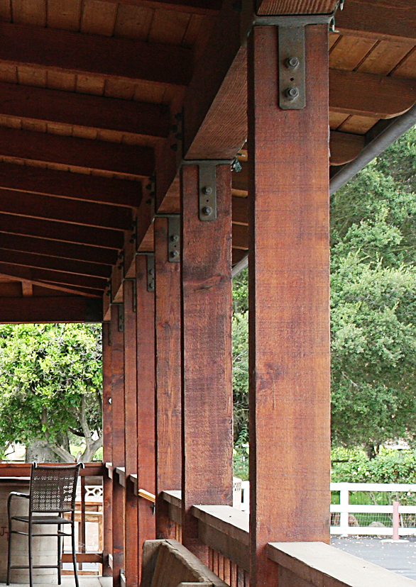 Porch, Zion Timberworks, Mark Hale, Santa Ynez, California, Craftsman